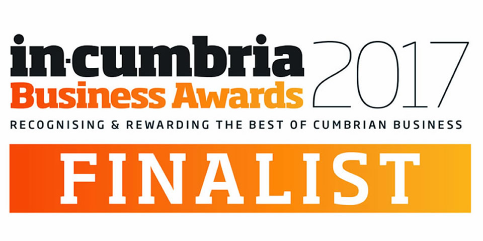 Proud to be nominated for 3 Cumbria Business Awards
