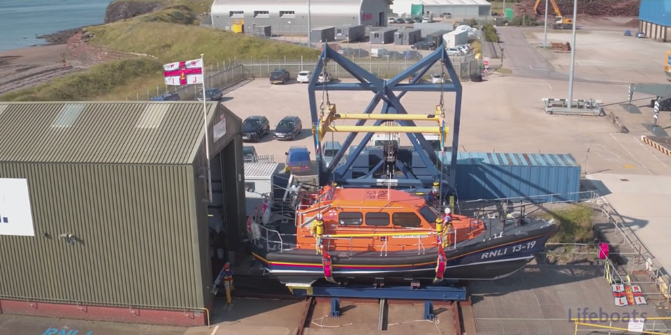 Adamedia films new Shannon Class lifeboat for RNLI Workington